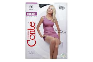 Колготки жіночі Conte Nuance 20den 2-S nero