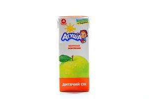 Сок яблоко осветленный Агуша т/п 200мл