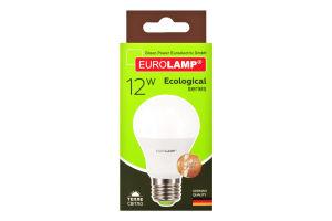 Лампа светодиодная LED 12W E27 3000K Eurolamp 1шт