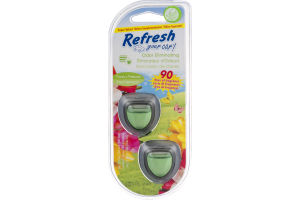 Refresh Your Car Odor Eliminating Clips Fresh Spring Air - 2 CT