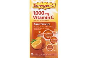 Emergen-C Vitamin C Fizzy Drink Mix Super Orange - 30 CT