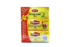 Набір Lipton чай чорний байховий Mamba 3*50г х8