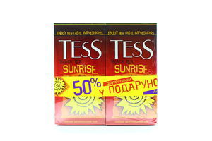 Чай TESS Sunrise чорний 1.8гx25штx2уп х5