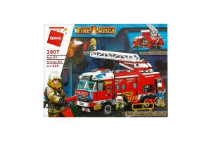 Конструктор для детей 3лет №2807 Машинка Пожарная служба Qman 1шт