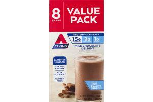 Atkins Milk Chocolate Delight Shake - 8 CT
