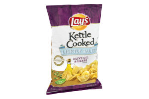 Lay's Kettle Cooked Potato Chips Lightly Salted Olive Oil & Herbs