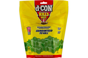 d-CON Kills Mice Bait Blocks - 12 CT