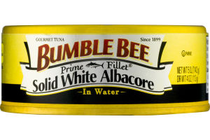 Bumble Bee Solid White Albacore Gourmet Tuna In Water