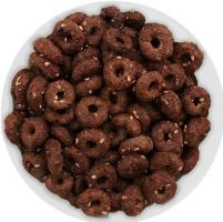 Сніданок сухий Кільця глазуровані цукровою глазур'ю з какао і кунжутом Золоте Зерно кг