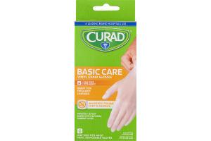Curad Basic Care Vinyl Exam Gloves - 8 CT