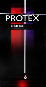 Презервативы Protex ребристые латекс со смазкой