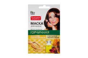 Маска Fitokoсмeтиk д/волос.Гірчична з каст.ол.та мед.30мл х6