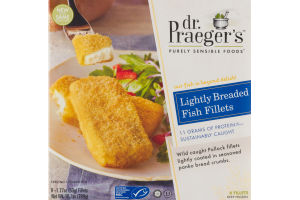 Dr. Praeger's Purely Sensible Foods Lightly Breaded Fish Filets - 6 CT