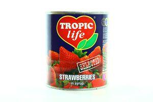 Полуниця Tropic Life в сиропі з/б 820мл