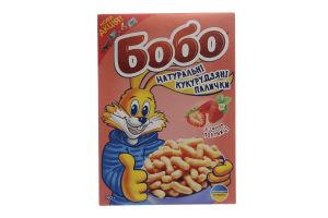 Кукурузные палочки со вкусом клубники Бобо к/у 140г