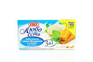 Рыбные палочки Любо есть с сыром Моцарелла в панировке с/м к/у Vici 250г