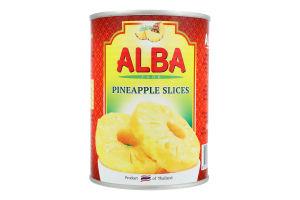 Ананаси кільцями в сиропі Alba Food з/б 580мл