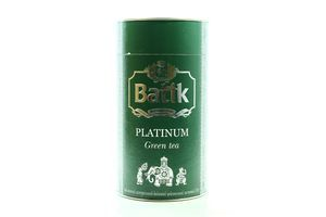 Чай зеленый байховый листовой Platinum Batik туб 100г