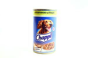 Корм Chappi з яловичиною та птицею ж/б 1200г