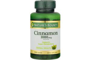 Nature's Bounty Cinnamon 1000 MG - 100 CT