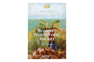 Сахар кубиками коричневый Golden Cane Mauritius к/у 500г