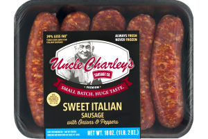 Uncle Charley's Sausage Co. Sweet Italian Sausage with Onions & Peppers