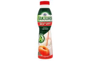 Йогурт з лактулозою з наповнювачем персик 1,5 % Лактонія (питний 0,500 кг)