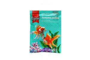 Корм сухой натуральный для аквариумных рыб Золотая рыбка Topsi 30г