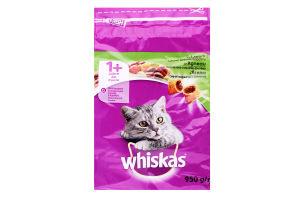 Корм сухой для взрослых котов с ягненком Whiskas м/у 950г