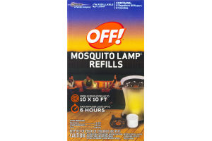 OFF! Mosquito Lamp Refills (2 Repellent Diffusers/2 Candles) - 4 CT