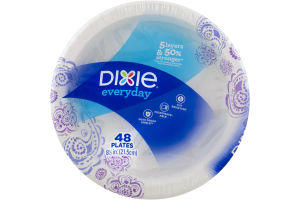 Dixie Everyday Plates 8 1/2 in. - 48 CT