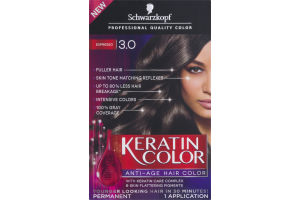 Schwarzkopf Keratin Color Permanent Anti-Age Hair Color 3.0 Espresso