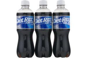 Diet Rite Pure Zero Cola - 6 CT