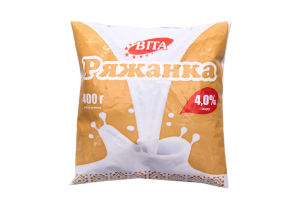 Ряженка 4% Віта м/у 400г