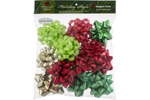 Hollywood Ribbon Holiday Style Designer Bows - 12 CT