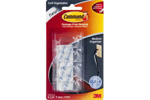 Command Damage-Free Hanging Cord Organization - 4 CT
