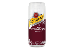 Напій Schweppes Смак граната б/а ж/б 330мл х12