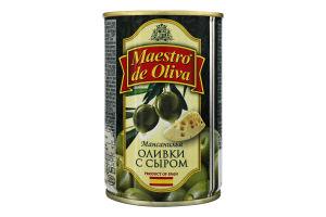 Оливки з сиром Maestro de Oliva з/б 300г