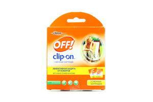 Средство Clip-on от комаров сменный картридж Off! 2шт