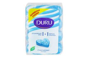 Мило морські мінерали-жив крем екопак Duru 1+1 4*90г/