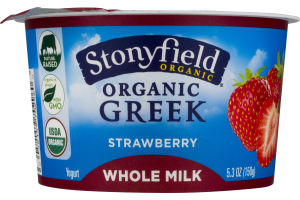 Stonyfield Organic Greek Whole Milk Yogurt Strawberry