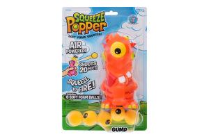Игрушка для детей от 4лет Монстрик Стреляющий зверек Squeeze Popper 1шт