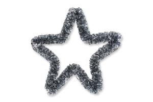 Украшение новогоднее 25см №766563 Звезда каркасная Блєск 1шт