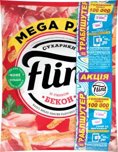 Сухарики пшенично-житні зі смаком бекону Flint м/у 110г