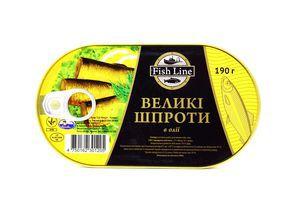 Шпроты большие Fish Line 190г