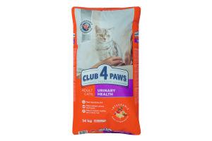 Корм сухой для взрослых котов Premium Urinary Health Club 4 Paws м/у 14кг