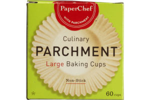 PaperChef Parchment Large Baking Cups - 60 CT