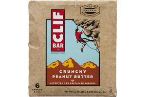 Clif Bar Crunchy Peanut Butter Energy Bar - 6 CT
