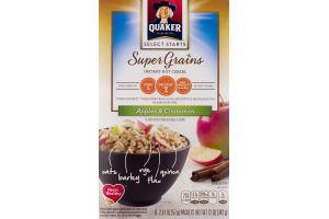 Quaker Select Starts Super Grains Instant Hot Cereal Apples & Cinnamon - 6 CT