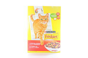 Корм д/кот Friskies сух мясо-печень-курица к/у 400г